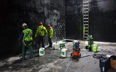 Ciśnieniowe uszczelnianie ścian żywicą wielokomponentową